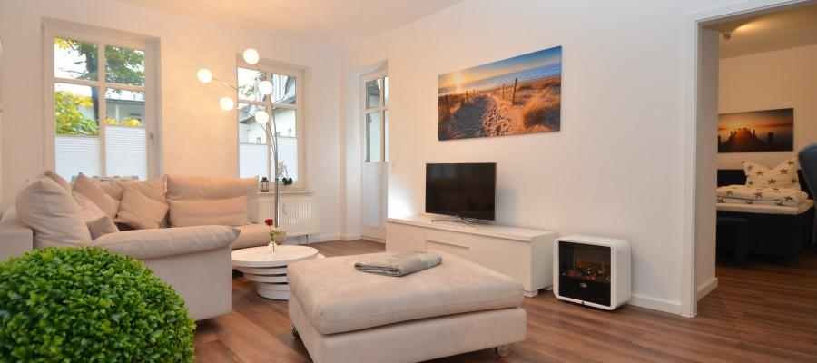 Wonhzimmer des Appartements Miramare  in der Villa Strandblick