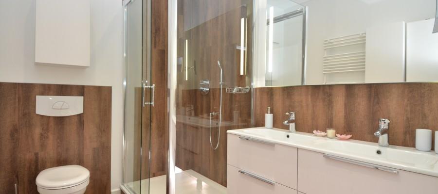 Badezimmer des Appartements Miramare in der Villa Strandblick