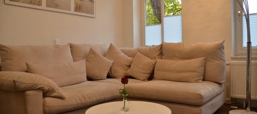 Wohnzimmer des Appartements Miramare